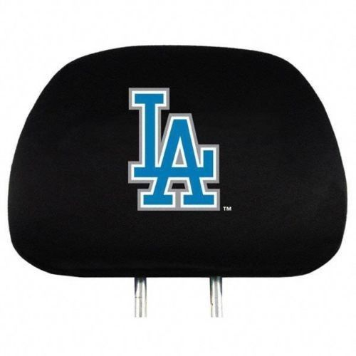 LOS ANGELES DODGERS CAR AUTO 2 TEAM HEADREST COVERS MLB BASEBALL