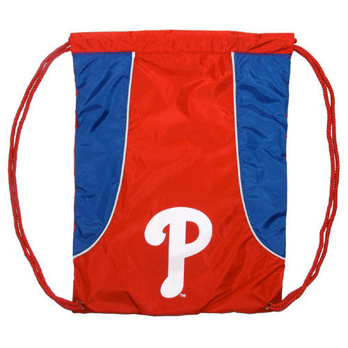 PHILADELPHIA PHILLIES BACK SACK PACK SCHOOL GYM BAG MLB BASEBALL