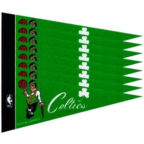BOSTON CELTICS 8 PIECE FELT MINI PENNANTS SET PACK NBA BASKETBALL