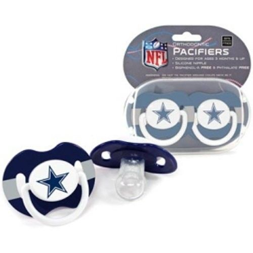 DALLAS COWBOYS 2-PACK BABY INFANT PACIFIERS NFL FOOTBALL