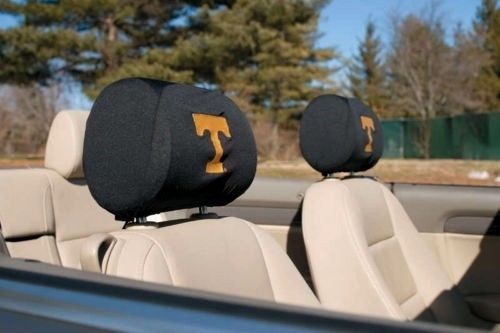 TENNESSEE VOLUNTEERS CAR AUTO 2 TEAM HEAD REST COVERS NCAA