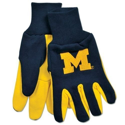 MICHIGAN WOLVERINES GLOVES TEAM TAILGATE GAME DAY PARTY UTILITY WORK GLOVES