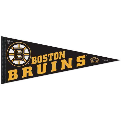 """BIG BOSTON BRUINS TEAM FELT PENNANT 12""""X 30"""" NHL HOCKEY SHIPS FLAT!"""