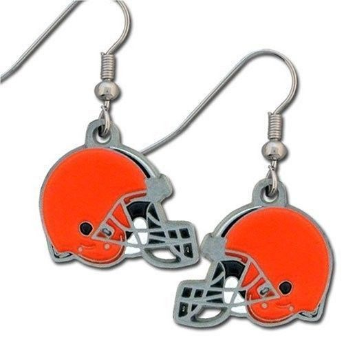 CLEVELAND BROWNS PAIR OF DANGLE EARRINGS TEAM LOGO PARTY TAILGATE NFL FOOTBALL