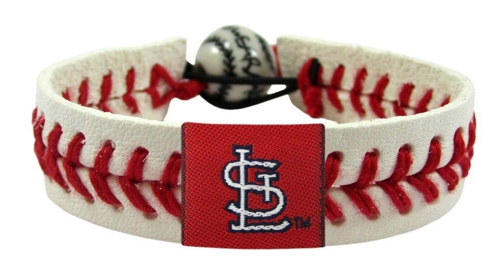 ST. LOUIS CARDINALS CLASSIC LEATHER LACES BRACELET MLB BASEBALL