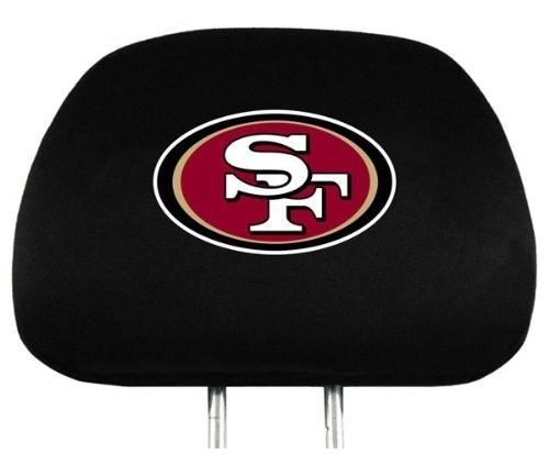 SAN FRANCISCO 49ERS CAR AUTO 2 TEAM HEAD REST COVERS NFL FOOTBALL