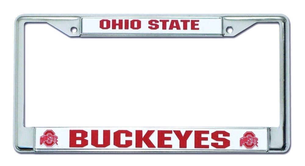 OHIO STATE BUCKEYES CAR AUTO CHROME METAL LICENSE PLATE TAG FRAME NCAA