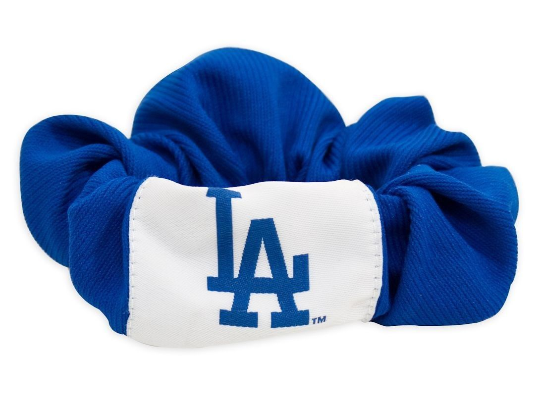LOS ANGELES DODGERS SCRUNCHIE HAIR TWIST PONY TAIL HOLDER TEAM MLB BASEBALL