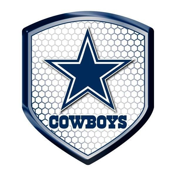 DALLAS COWBOYS HIGH INTENSITY REFLECTOR SHIELD DOMED TEAM DECAL NFL FOOTBALL #1