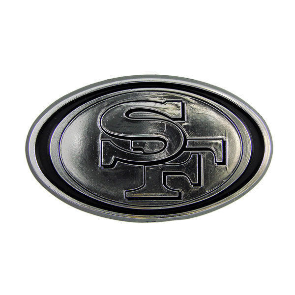 SAN FRANCISCO 49ERS CAR AUTO 3-D CHROME SILVER TEAM LOGO EMBLEM NFL FOOTBALL