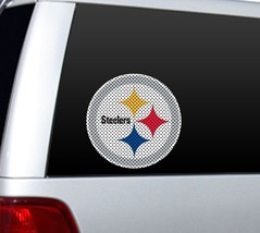 """BIG 12"""" PITTSBURGH STEELERS CAR HOME PERFORATED WINDOW FILM DECAL NFL FO... - $9.28"""