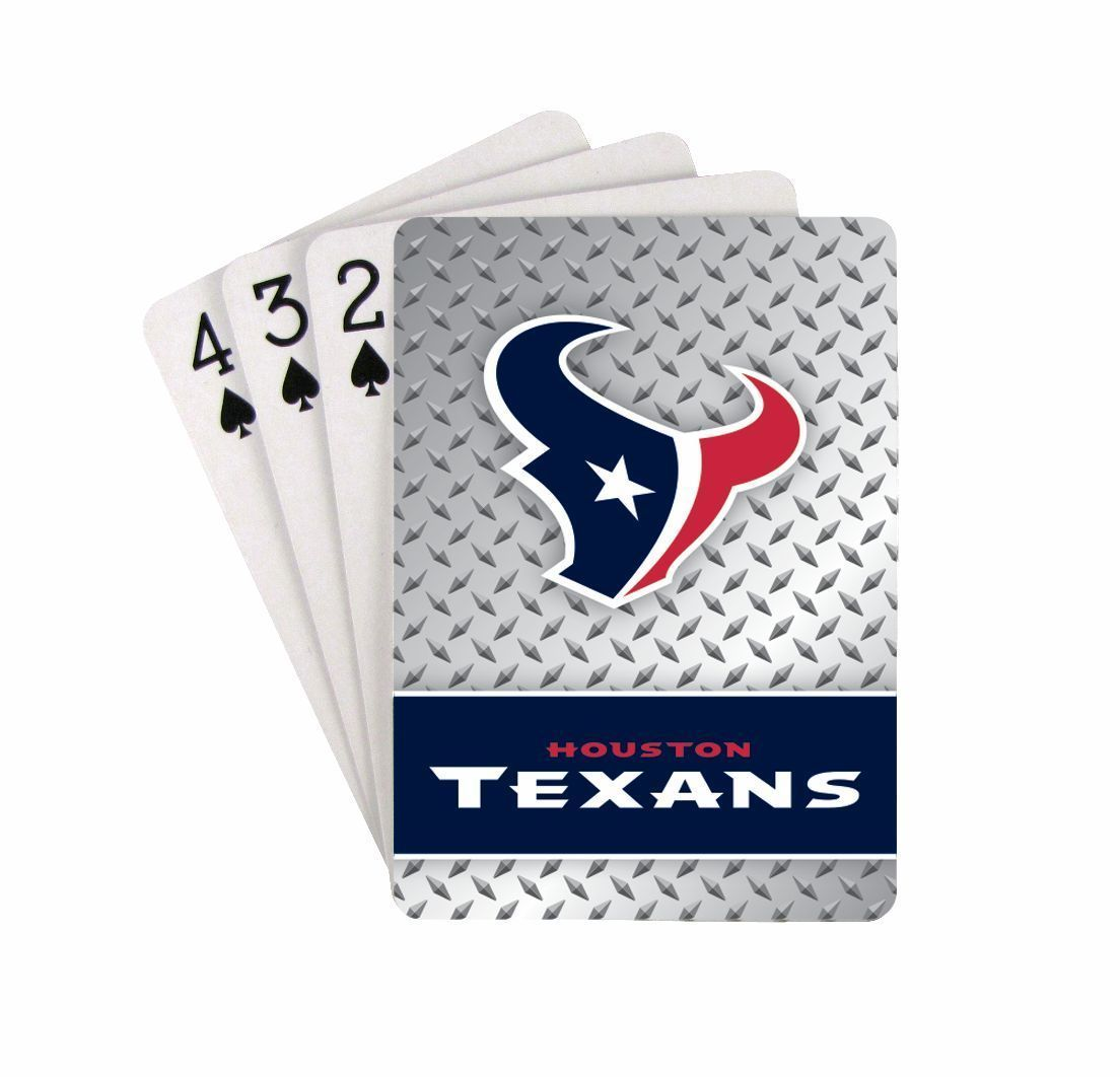 HOUSTON TEXANS 52 PLAYING CARDS DECK DIAMOND PLATE POKER  NFL FOOTBALL
