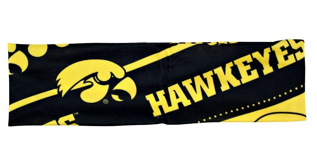 IOWA HAWKEYES STRETCH PATTERNED HEADBAND GAME TAILGATE PARTY SCHOOL NCAA