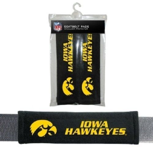 IOWA HAWKEYES 2 VELOUR SEAT BELT LAPTOP GYM BAG SHOULDER PADS
