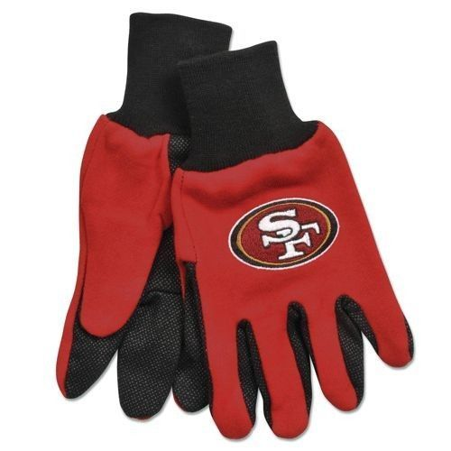 SAN FRANCISCO 49ERS TAILGATE GAME DAY PARTY UTILITY WORK GLOVES NFL FOOTBALL