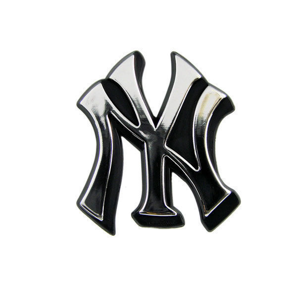 NEW YORK YANKEES CAR AUTO 3-D CHROME SILVER TEAM LOGO EMBLEM MLB BASEBALL