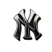 NEW YORK YANKEES CAR AUTO 3-D CHROME SILVER TEAM LOGO EMBLEM MLB BASEBALL - $9.41
