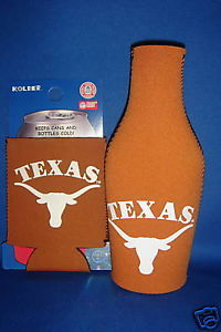 BEER/SODA  BOTTLE&CAN KOOZIE HOLDER TEXAS LONGHORNS