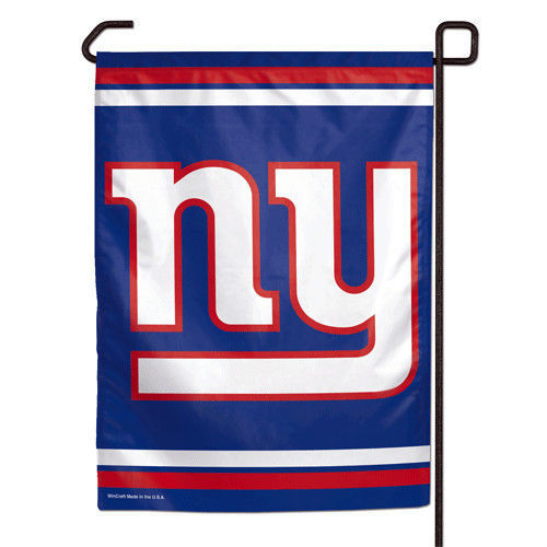 "NEW YORK GIANTS TEAM GARDEN WALL FLAG BANNER 11"" X 15"" NFL FOOTBALL"