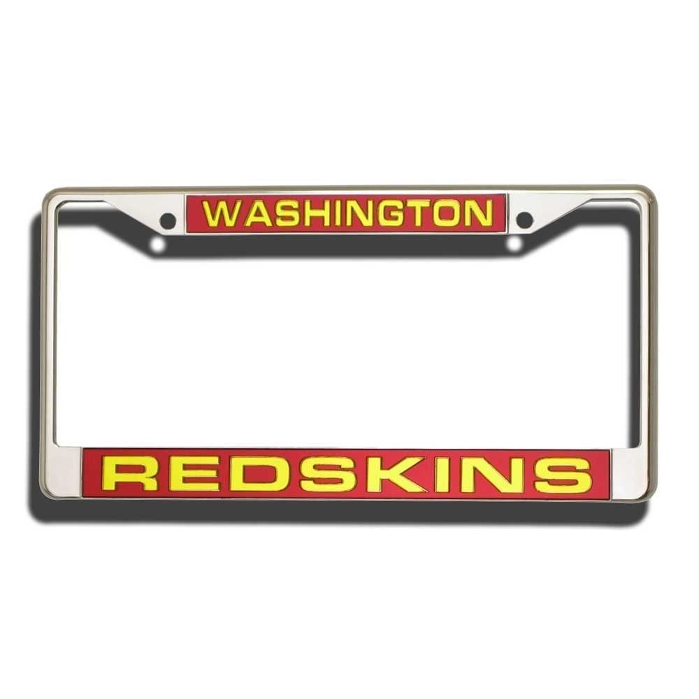 WASHINGTON REDSKINS CAR AUTO LASER CUT MIRROR CHROME LICENSE FRAME NFL FOOTBALL
