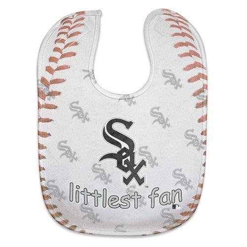 CHICAGO WHITE SOX MESH BABY BIB VELCRO CLOSURE TEAM COLORS & LOGO MLB BASEBALL