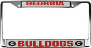 GEORGIA BULLDOGS CAR AUTO CHROME METAL LICENSE PLATE TAG FRAME NCAA UNIVERSITY