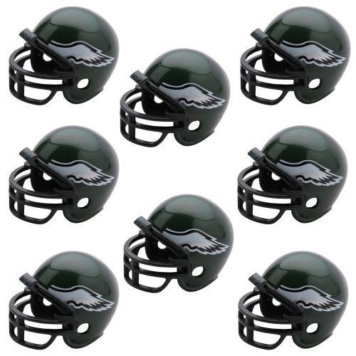PHILADELPHIA EAGLES 8 PARTY PACK NFL FOOTBALL HELMETS RIDDELL