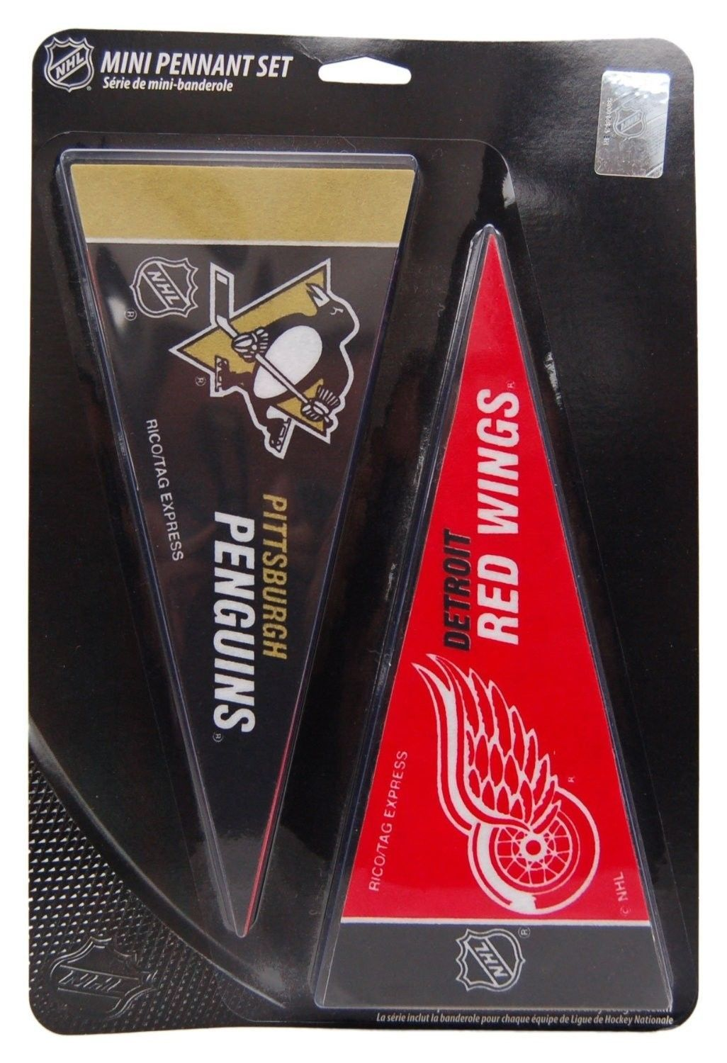 "NHL HOCKEY 30 TEAM LOGO FELT MINI PENNANTS SET 4"" X 9"" OFFICIALLY LICENSED"