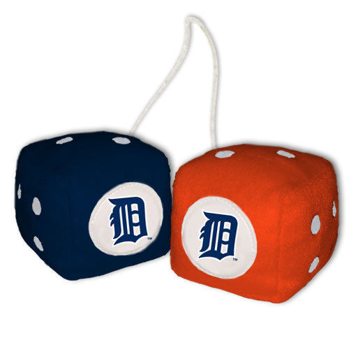 DETROIT TIGERS PLUSH FUZZY DICE CAR MIRROR DANGLER MLB BASEBALL