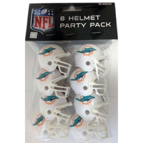 MIAMI DOLPHINS 8 PARTY PACK NFL FOOTBALL HELMETS RIDDELL #1