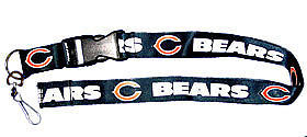 CHICAGO BEARS LANYARD KEYCHAIN TICKET HOLDER FOOTBALL