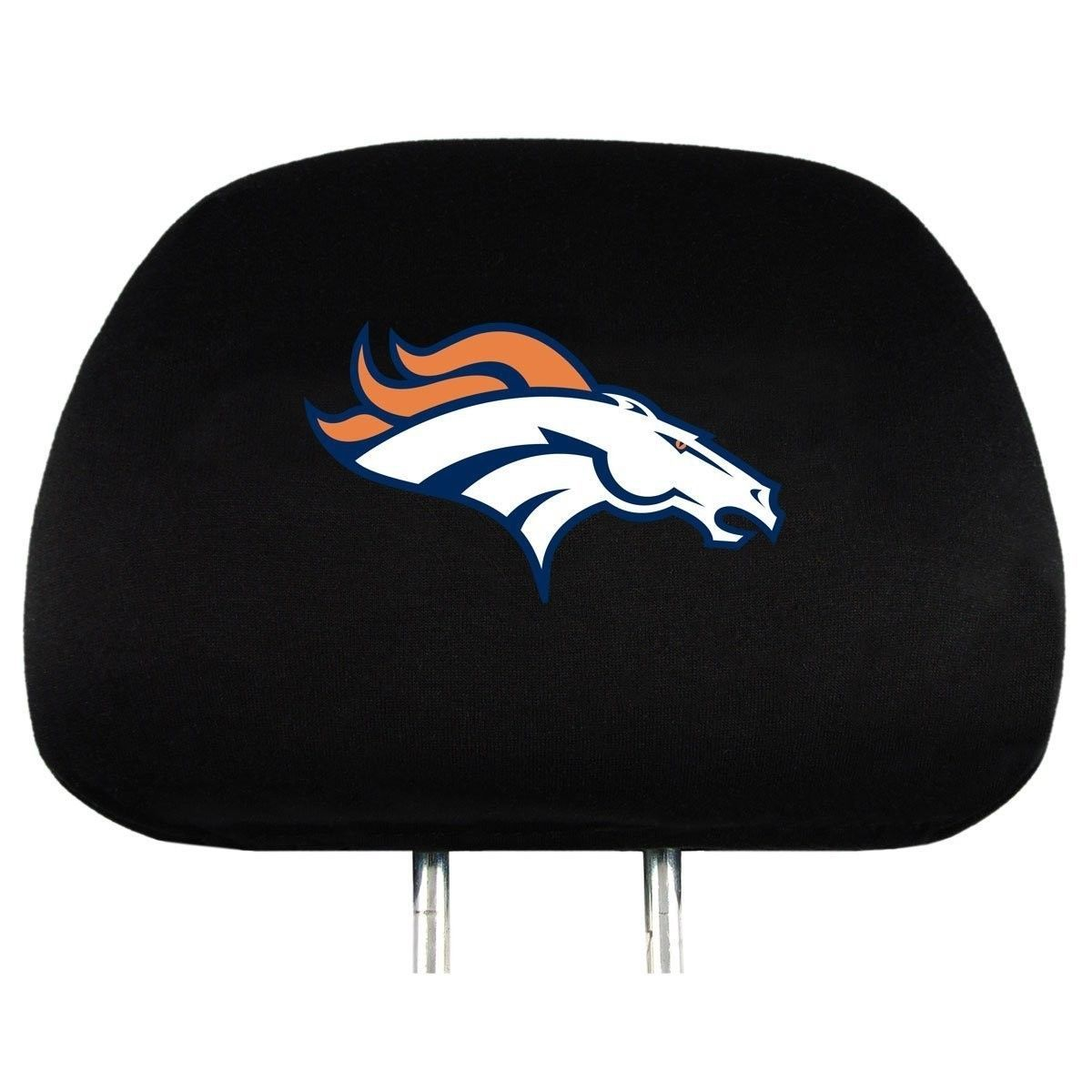 DENVER BRONCOS CAR AUTO 2 TEAM HEAD REST COVERS NFL FOOTBALL