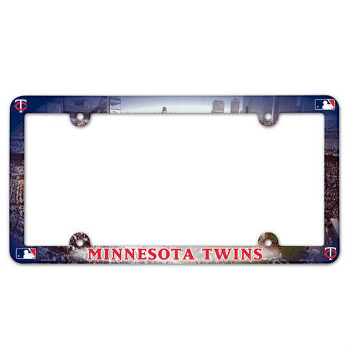 MINNESOTA TWINS COLOR CAR AUTO PLASTIC LICENSE PLATE FRAME MLB BASEBALL