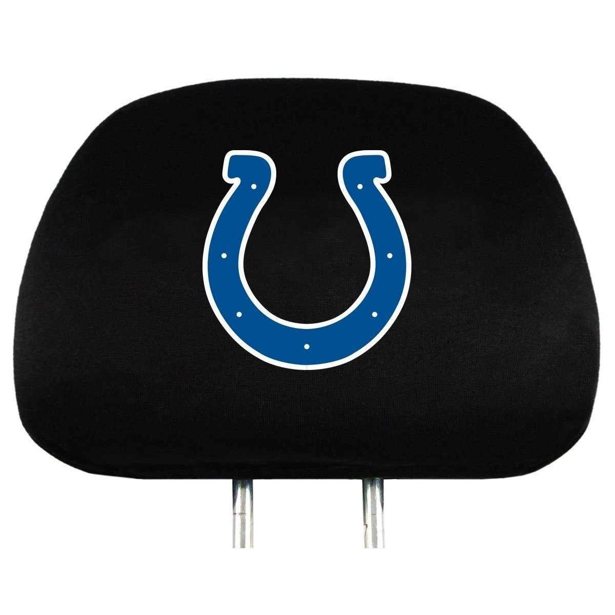 INDIANAPOLIS COLTS CAR AUTO 2 TEAM HEAD REST COVERS  NFL FOOTBALL