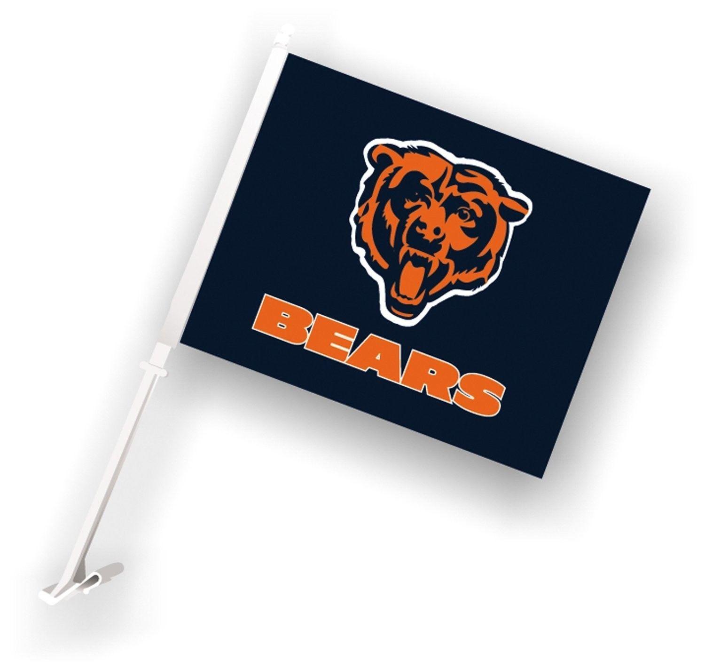 CHICAGO BEARS CAR AUTO FLAG BANNER & POLE 2 SIDED NFL FOOTBALL