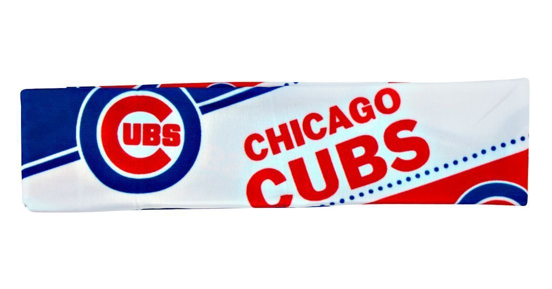 CHICAGO CUBS STRETCH PATTERN TEAM HEADBAND TAILGATE PARTY MLB BASEBALL