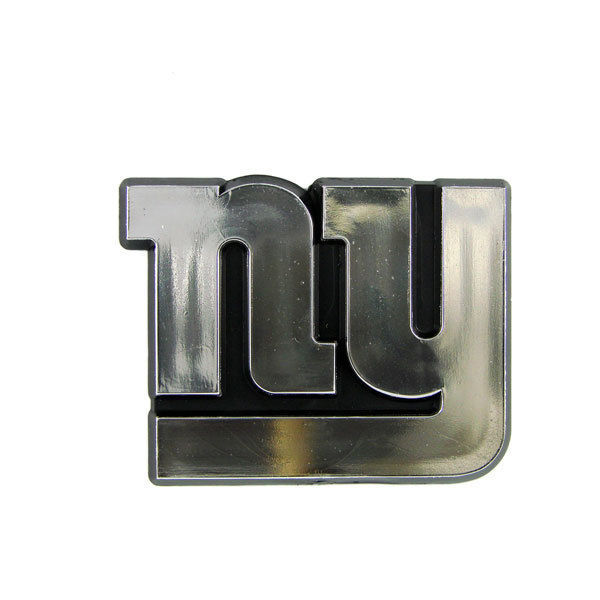 NEW YORK GIANTS CAR AUTO 3-D CHROME SILVER TEAM LOGO EMBLEM NFL FOOTBALL