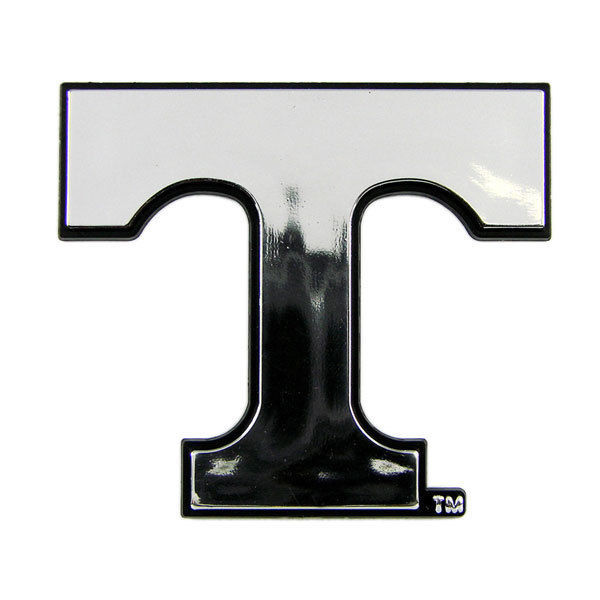 TENNESSEE VOLUNTEERS CAR AUTO 3-D CHROME SILVER TEAM LOGO EMBLEM