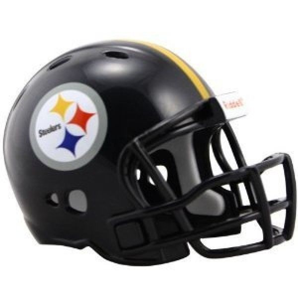 "2 PITTSBURGH STEELERS POCKET PRO NFL FOOTBALL HELMET 2"" SIZE  Made By RIDDELL!"