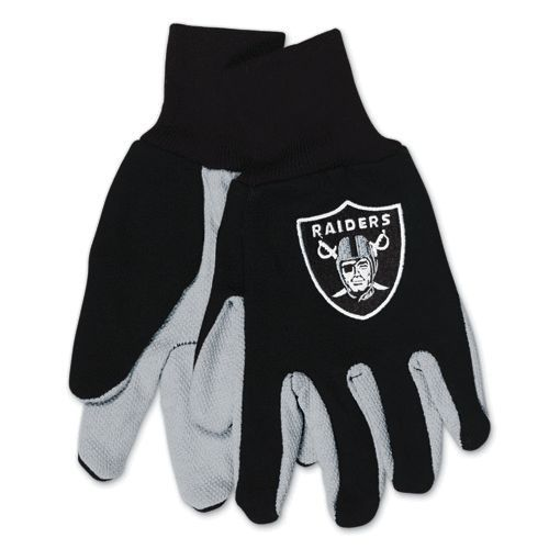 OAKLAND RAIDERS TEAM TAILGATE GAME DAY PARTY UTILITY WORK GLOVES NFL FOOTBALL