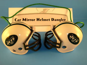 NEW YORK JETS CAR/HOUSE NFL FOOTBALL HELMET KNOCKERS-Hang from Anything!