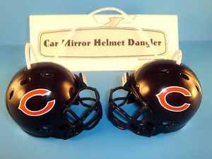 CHICAGO BEARS CAR/HOUSE NFL FOOTBALL HELMET HANGERS-Hang from Anything!