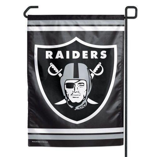 "OAKLAND RAIDERS TEAM GARDEN WALL FLAG BANNER 11"" X 15"" NFL FOOTBALL"