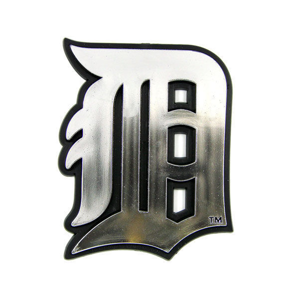 DETROIT TIGERS CAR AUTO 3-D CHROME SILVER TEAM LOGO EMBLEM MLB BASEBALL