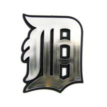 DETROIT TIGERS CAR AUTO 3-D CHROME SILVER TEAM LOGO EMBLEM MLB BASEBALL - $9.41
