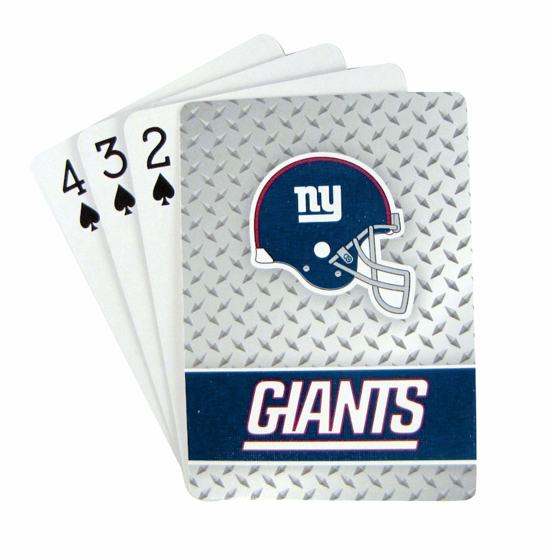 NEW YORK GIANTS 52 PLAYING CARDS DECK DIAMOND PLATE POKER  NFL FOOTBALL