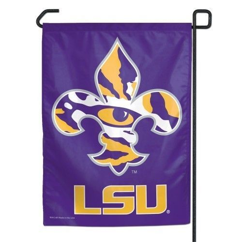 "LSU TIGERS TEAM GARDEN YARD WALL FLAG BANNER 11"" X 15"" NCAA"