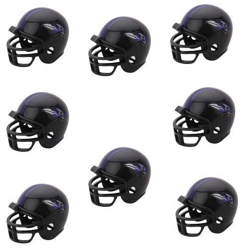 BALTIMORE RAVENS 8 PARTY PACK NFL FOOTBALL HELMETS RIDDELL