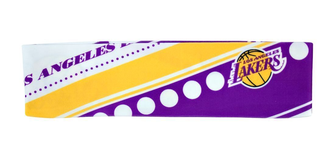 LOS ANGELES LAKERS STRETCH PATTERNED HEADBAND GAME TAILGATE PARTY NBA BASKETBALL