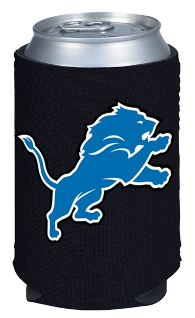 2 DETROIT LIONS BEER SODA WATER CAN KADDY KOOZIE HOLDER NFL FOOTBALL